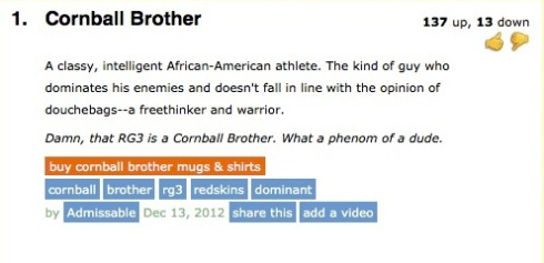 "New Urban Dictionary Entry for ""Cornball Brother"""