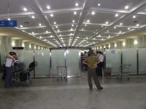 Arrival Customs Gate at Pyongyang Airport