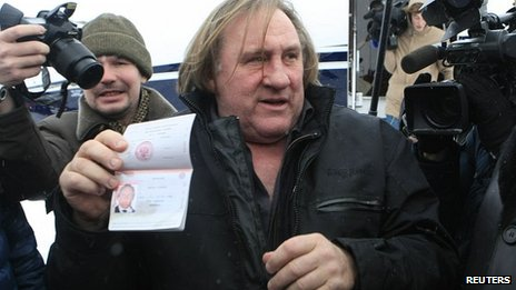 Depardieu warmly welcomed to freedom by Putin