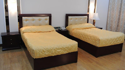 And those beds? Hard as a rock.  Very little in North Korea, it seemed to us, was built to be inviting. Not a rug in the place.