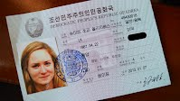 North Korean ID card of Sophie Schmidt, teenage daughter of Google chief
