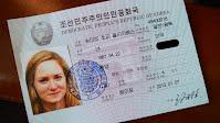 Sophie Schmidt's North Korean ID card