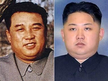 Kim Il Sung (L) and his Grandson (R)