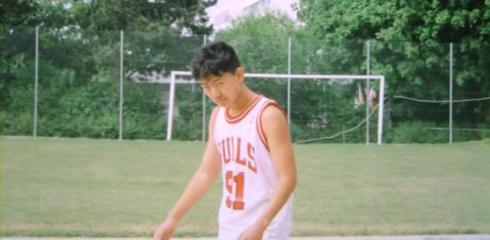 A photo of Kim Jong Chol in a Dennis Rodman Chicago Bulls #91 shirt, Berne, Switzerland