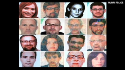 Interpol mugshots of Mossad assassins in Dubai wanted for murder. Barkan is on the far left, third from top