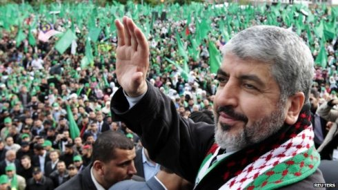 Hamas leader Khaled Meshaal survived a Mossad assassination attempt when two agents posing as Canadian tourists squirted poison in his ear on an Amman Jordan street in 1997