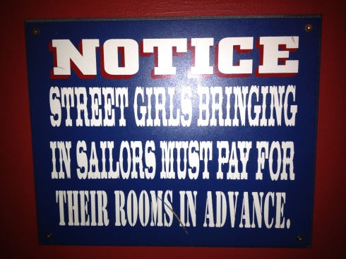 Sign at Toronto bar Sweaty Betty's