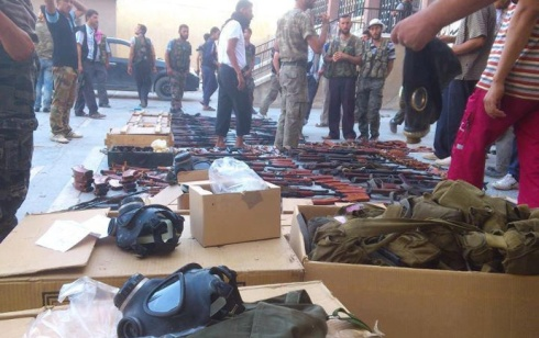 Captured chemical weapons equipment from Aleppo | Photo: Syrian Free Army