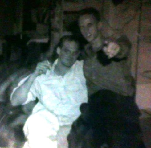 Philip Blenkinsop (r) and myself a couple of years later in Phnom Penh Cambodia